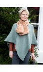 Amazing Woman Olive Green Poncho in Supersoft Knit