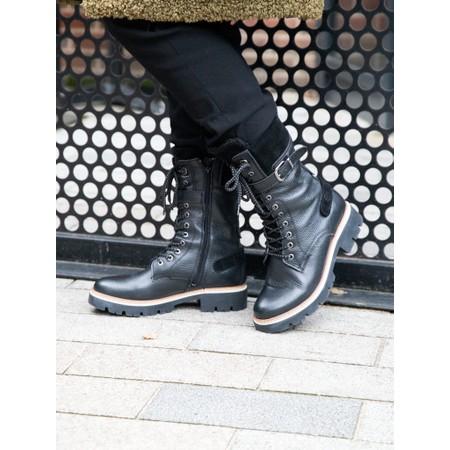 Tamaris Caramello Duo Tex Tall Hiker Boot - Black