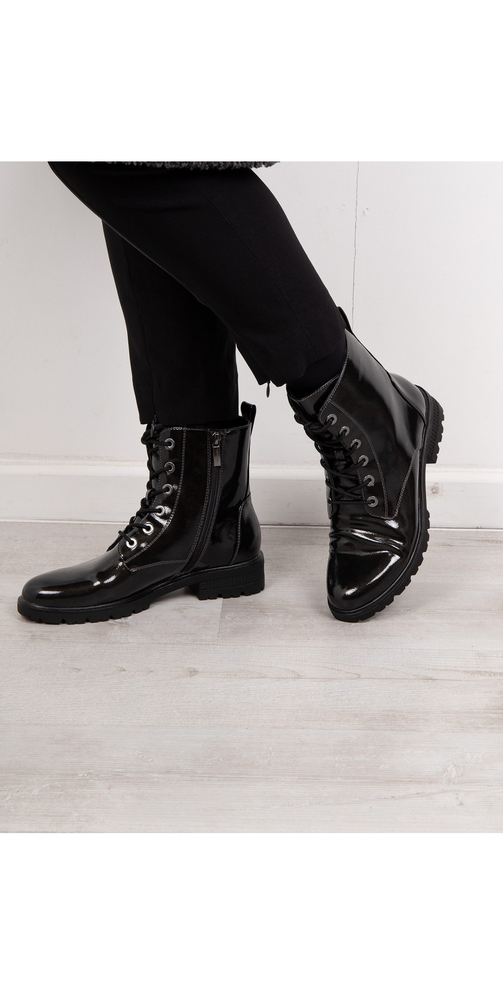 Major Patent Military Style Ankle Boot main image