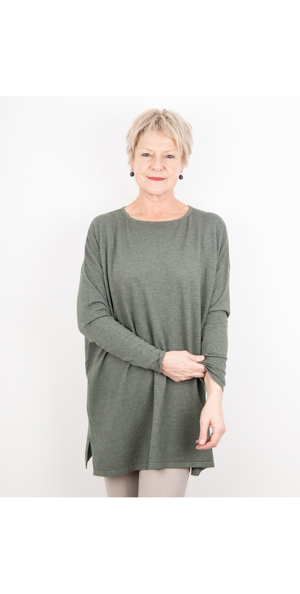 Wells Round Neck Slouch Knit main image