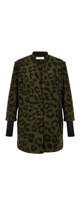 Amazing Woman  Kendra Boiled Wool Jacket Black / Khaki