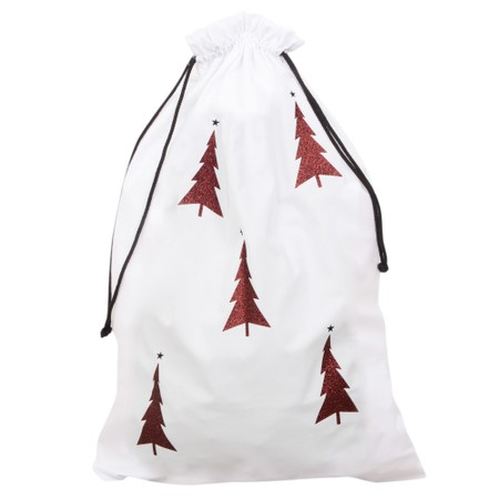 Chalk Home Christmas Santa Sack - White