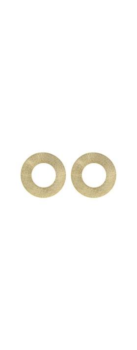 Rosanna Barcelona Stone Circularr Earring Gold Matt