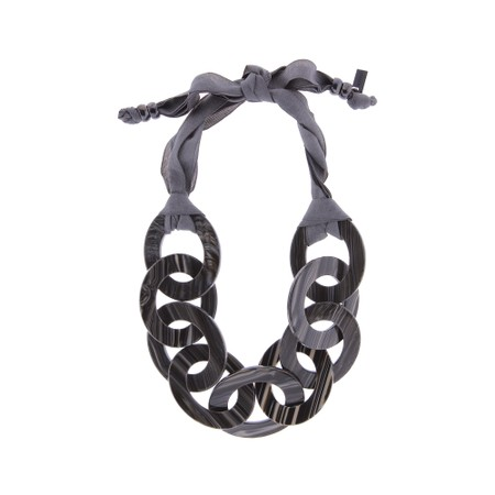 Rosanna Barcelona Identity Resin Necklace - Black