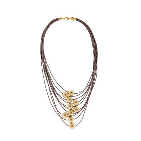 Rosanna Barcelona Aire Multi Strand Necklace  - Beige