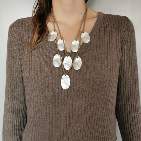 Rosanna Barcelona Aire Multi Disc Necklace  - Beige