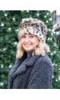 Helen Moore Ocelot Pillbox Faux Fur Hat