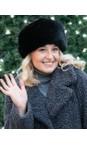 Helen Moore Jet Pillbox Faux Fur Hat