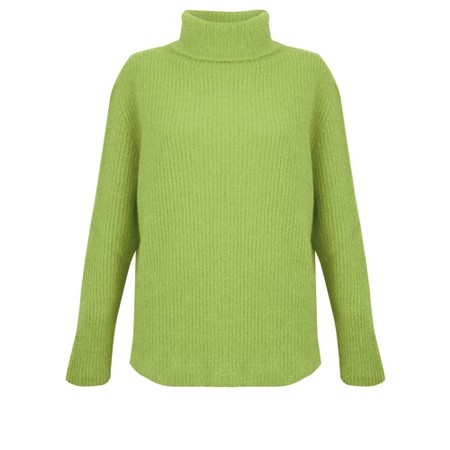Amazing Woman  Cosy Knit Ribbed Polo - Green