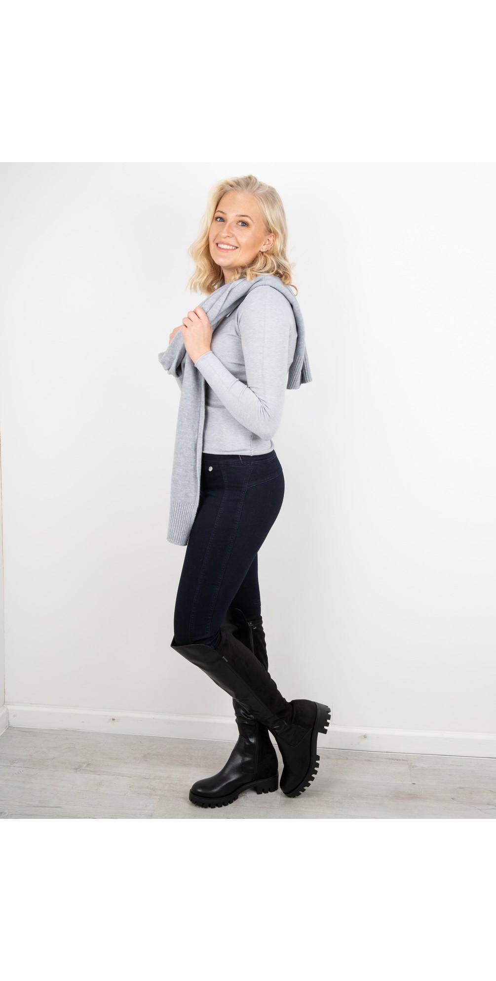 Tara V Neck Slimfit Fine Knit Jumper main image