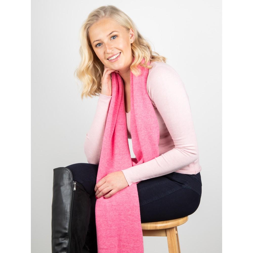 Amazing Woman Tara V Neck Slimfit Fine Knit Jumper Pink Rose