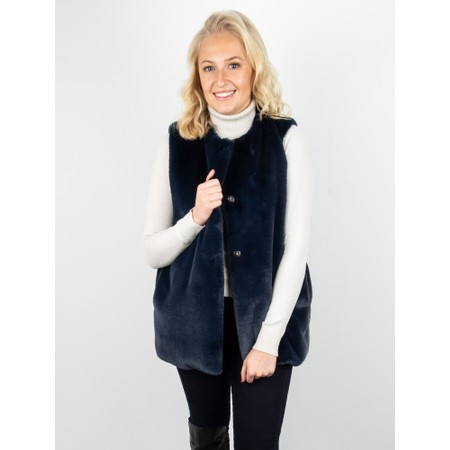 Amazing Woman  Cuddle Faux Fur Gilet - Blue