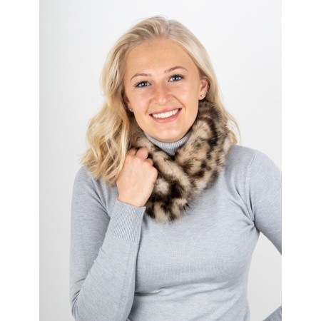 Helen Moore Pom Button Faux Fur Collar - Brown