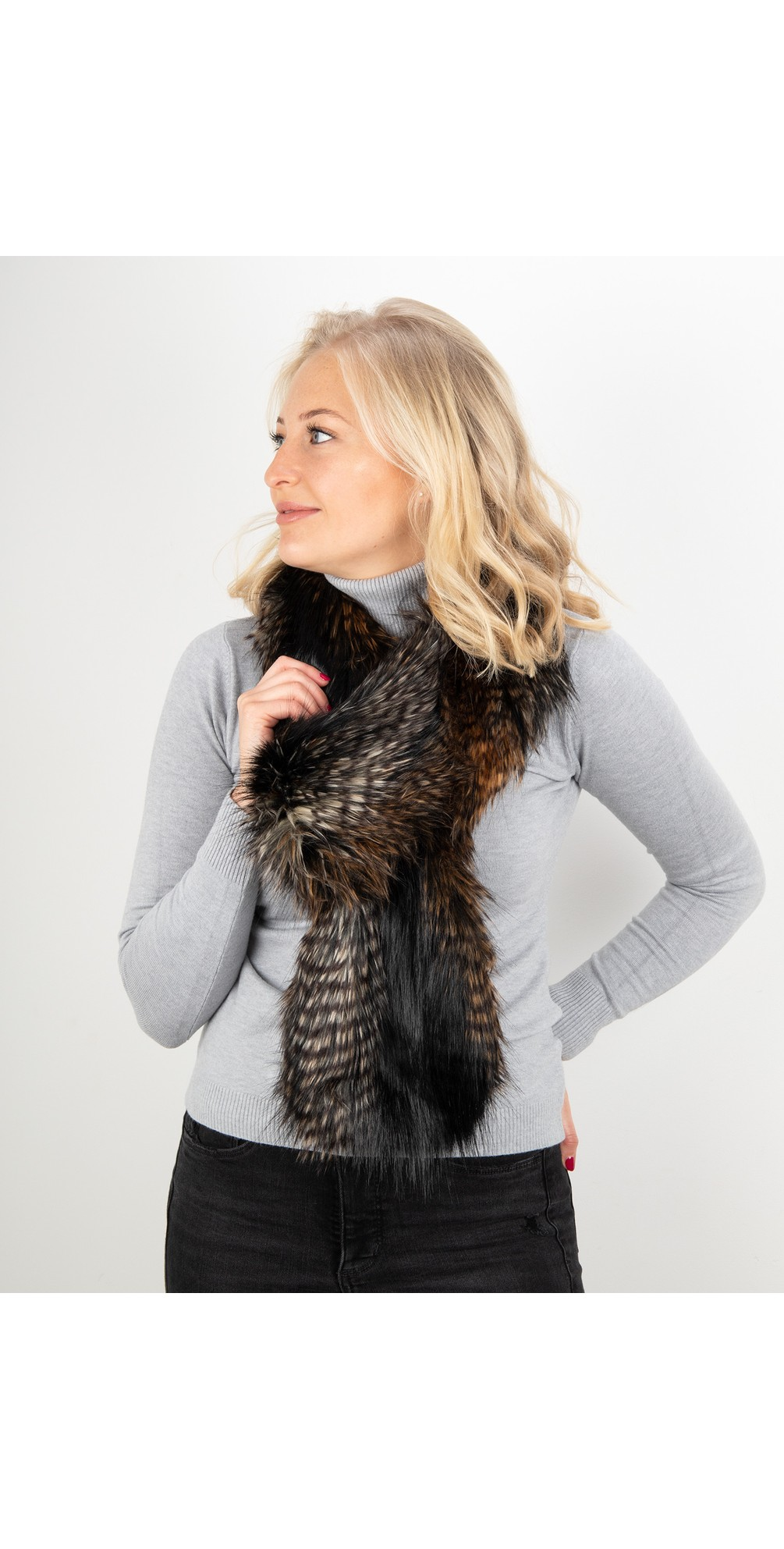 Loop Faux Fur Scarf main image