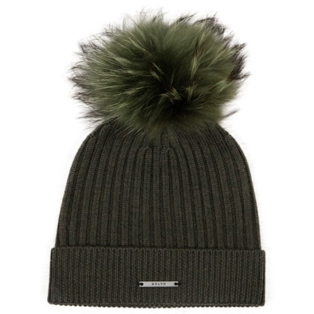BKLYN Lusso Merino Ribbed Hat with Pom - Green