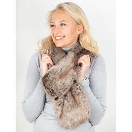 Helen Moore Loop Faux Fur Scarf - Brown