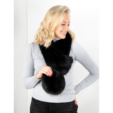 Helen Moore Loop Faux Fur Scarf - Black