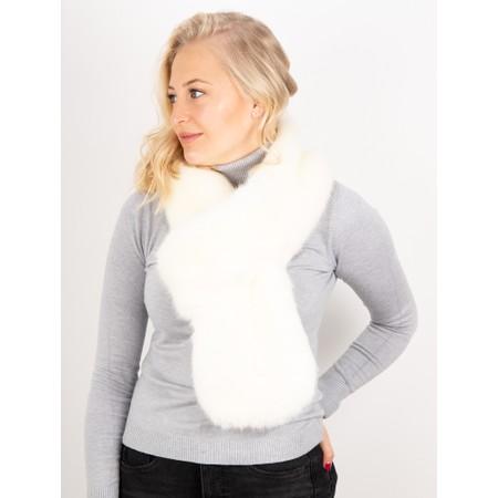 Helen Moore Loop Faux Fur Scarf - White
