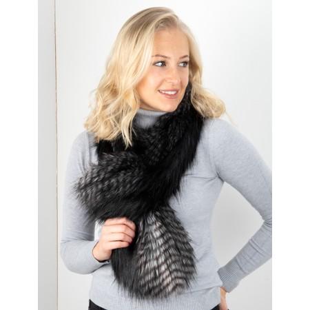 Helen Moore Loop Faux Fur Scarf - Black