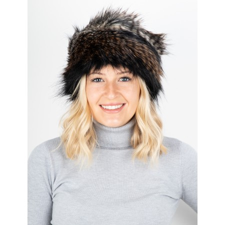 Helen Moore Pillbox Faux Fur Hat - Brown