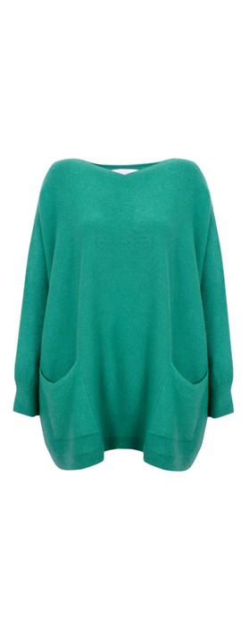 Amazing Woman Caryf X Round Neck Oversized Jumper Peacock