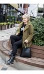 Luella Black / Silver  Sequin Star Cashmere Blend Jumper