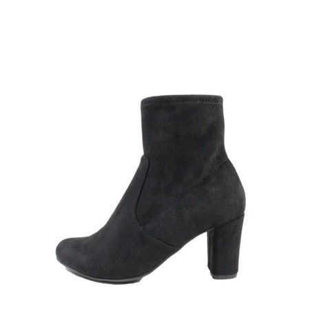 Caprice Footwear Britt Stretch Faux Suede Ankle Boot  - Black