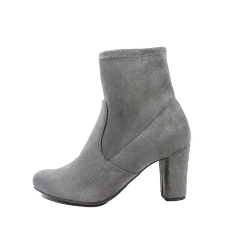 Caprice Footwear Britt Stretch Faux Suede Ankle Boot  - Grey