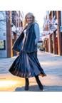 Pour Moi Grigio Velvet Pleated Skirt