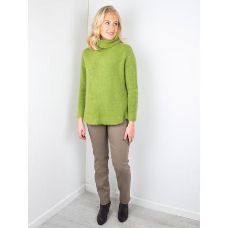 Robell Bella  Taupe Slim Fit 78cm Full Length Trouser - Brown