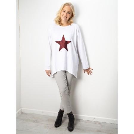 Chalk Gemini Exclusive ! Robyn Star Top - White