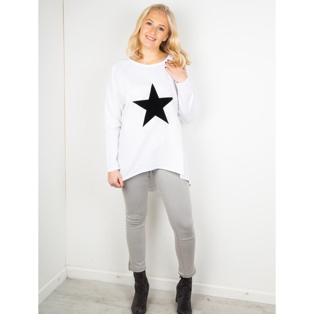 Chalk Robyn Star Top White / Black