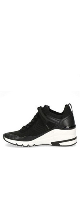 Caprice Footwear Lou  Lace Front Trainer Shoe Black