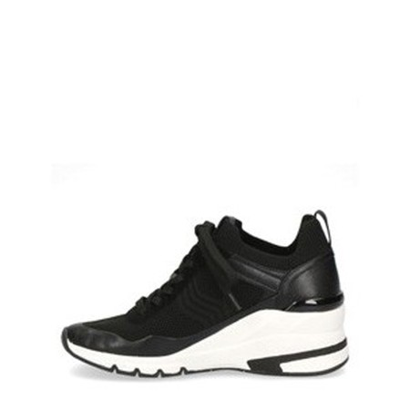 Caprice Footwear Lou  Lace Front Trainer Shoe - Black