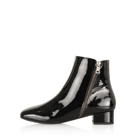 Gemini Label Shoes Pedro Patent Shoe Boot  - Black
