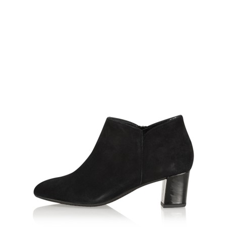Gemini Label Shoes Isco Suede Ankle Boot - Black