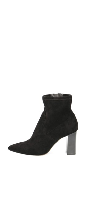 Caprice Footwear Daisy Stretch Ankle Boot Black