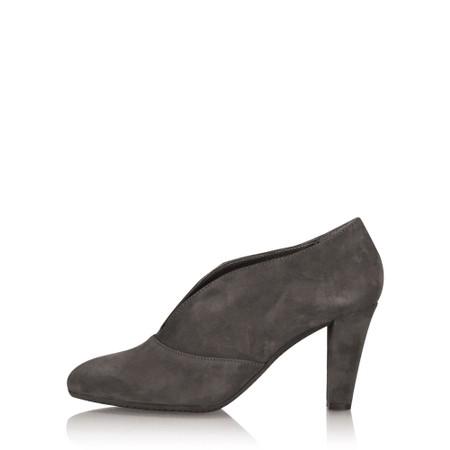 Gemini Label Shoes Valto Anthracite Suede Shoe Boot - Grey