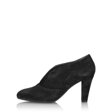 Gemini Label Shoes Valto Black Suede Shoe Boot - Black