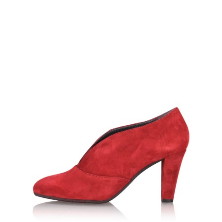 Gemini Label Shoes Valto Red Suede Shoe Boot - Red