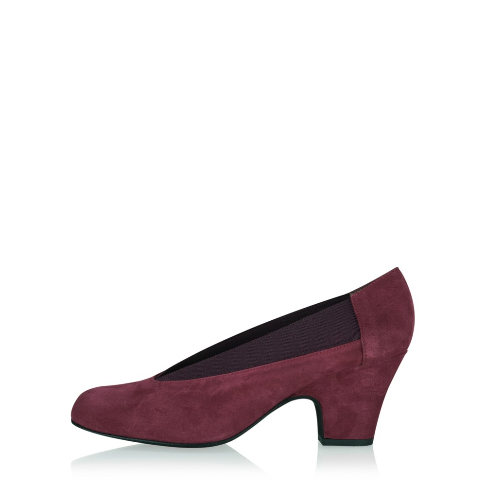 Gemini Label Shoes Brumabe Suede Shoe Bordeaux