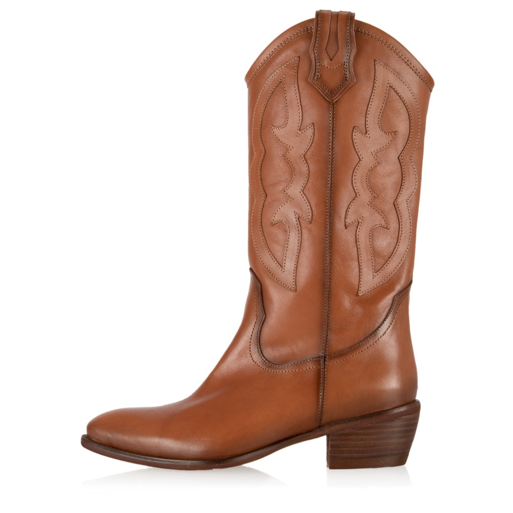 Kanna Porto Western Boot Cuero Tan