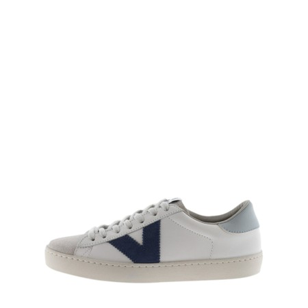 Victoria Shoes Berlin Classic Victoria V Leather Trainer - Blue