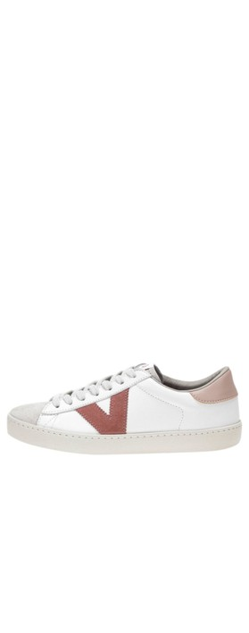 Victoria Shoes Berlin Classic Victoria V Leather Trainer Pink - Nude 170