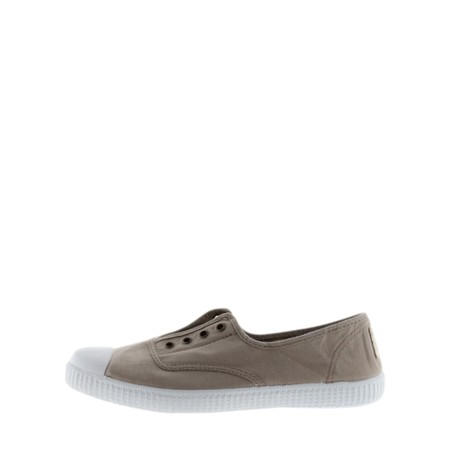 Victoria Shoes Dora Organic Cotton No Lace Pump - Beige