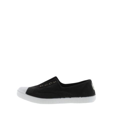Victoria Shoes Dora Black Organic Cotton Washable No Lace Pump - Black