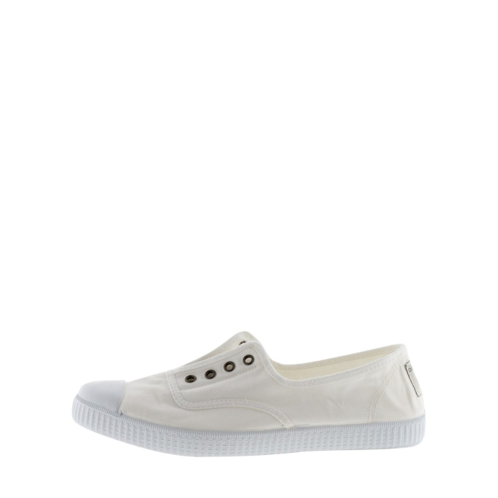 Victoria Shoes Dora Organic Cotton No Lace Pump Blanco White 20