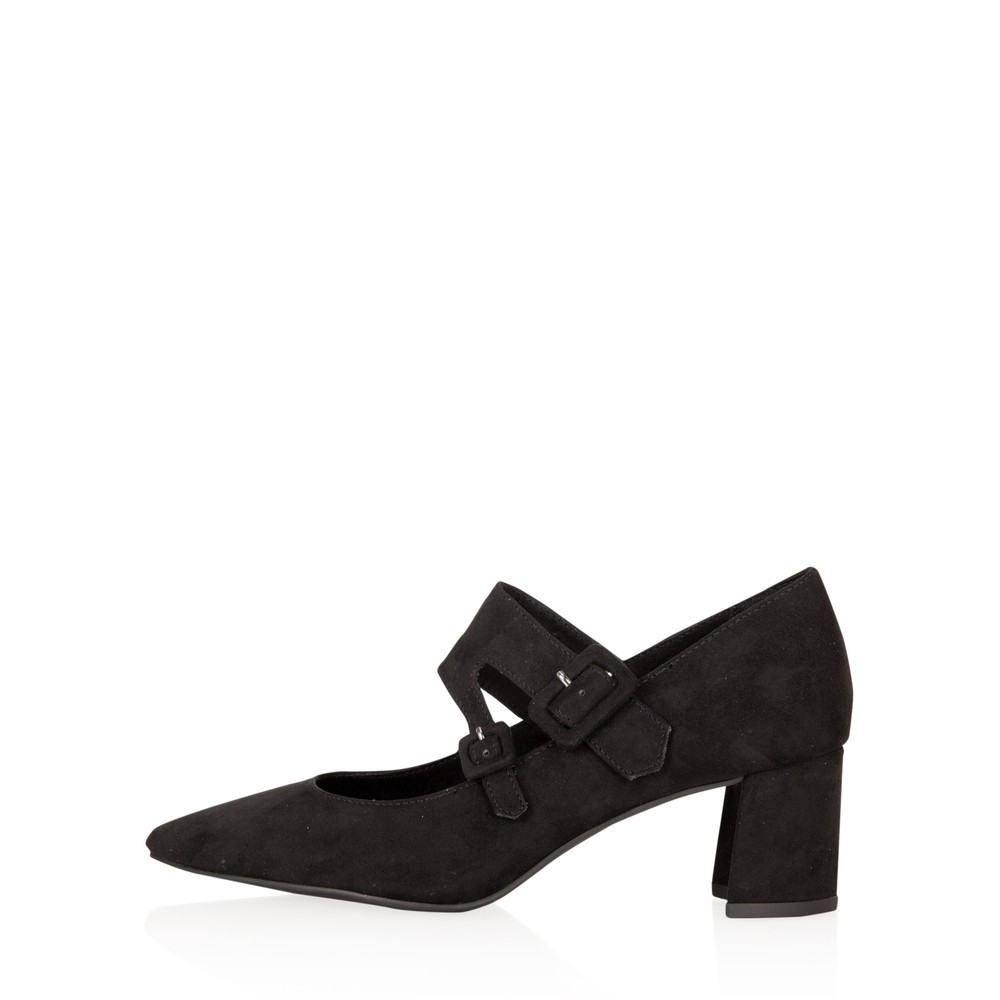 Marco Tozzi Baci Mary Jane Faux Suede Shoe Black