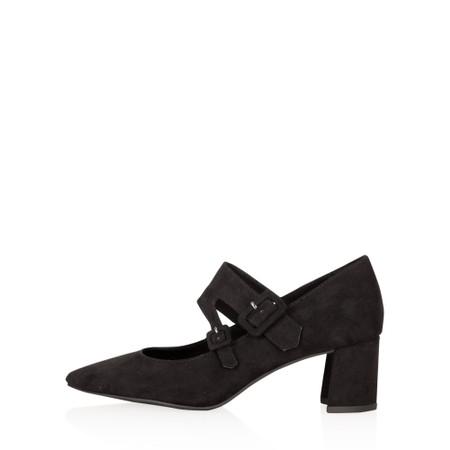 Marco Tozzi Baci Mary Jane Faux Suede Shoe - Black