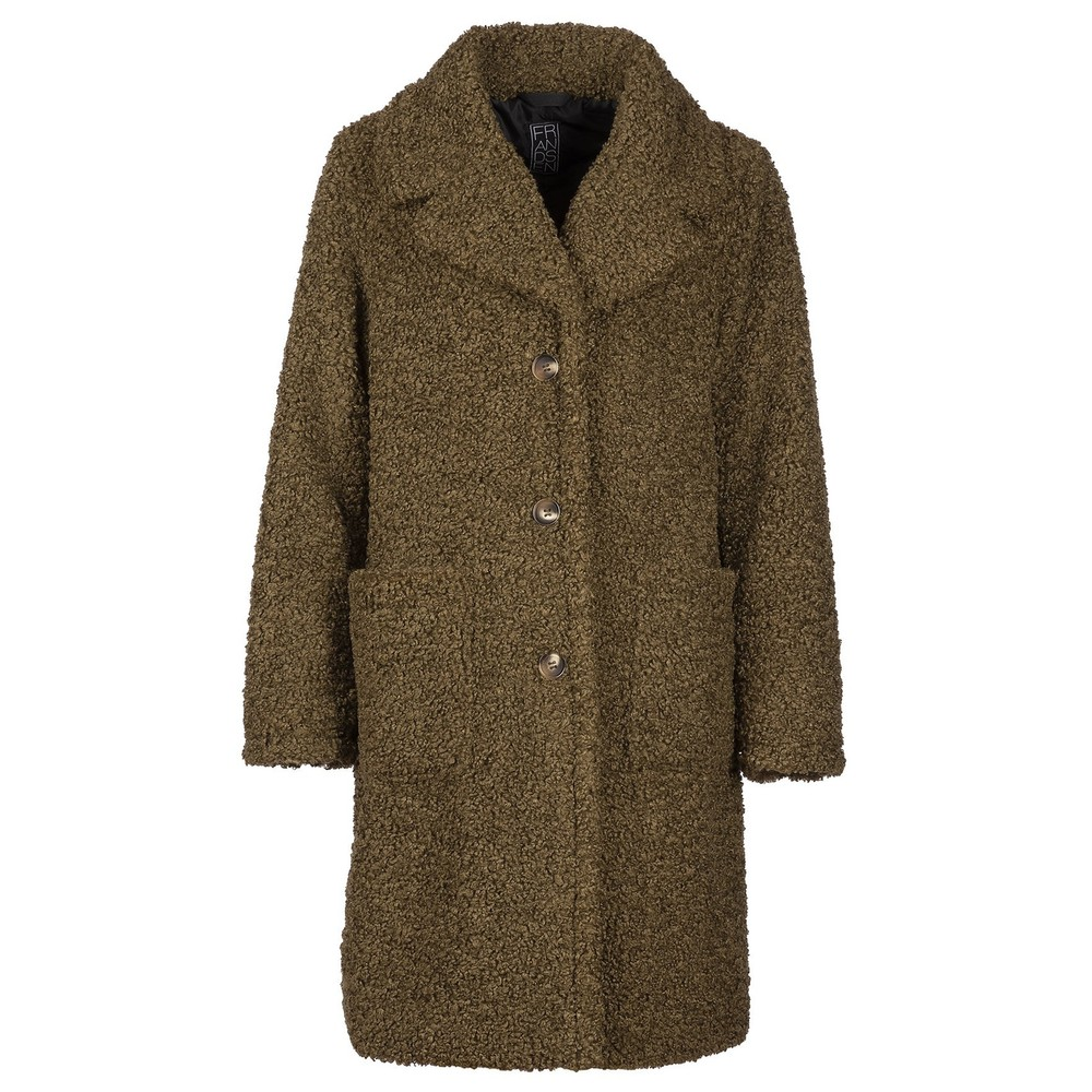 Frandsen Teddy Coat Olive